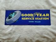 Vintage Used Porcelain Gas Oil Signs Goodyear Service Station