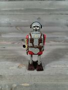 1956 Nomura Space Commando Robot Tin Wind Up Toy Sold As Is