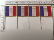 4x 40mm French Napoleonic Infantry Flags 1815 Pattern Waterloo Regts. 1,8,33,45