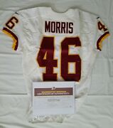 46 Alfred Morris Of Redskins Nfl Game Used And Unwashed Jersey Vs Giants With Coa
