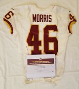46 Alfred Morris Of Redskins Nfl Game Worn And Unwashed Jersey Vs. Colts With Coa