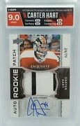 Carter Hart 2018-19 The Cup Exquisite Rpa Patch Autograph Rookie Rc /79 Hga 9