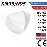 50/100 Pcs Kn95 Protective Face Mask / N95 Stamped Disposable Masks Bfe 95 N 95