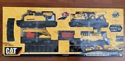 Cat Construction Express Train Set Battery Motorized/lights 23andrsquo+long Track New