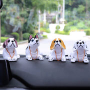 Dog Swing Head Moving Bobble Car Home Decor Puppy Toy Ornament Supplies
