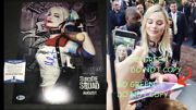 Margot Robbie Signed Suicide Squad Poster 11x14 Photo Harley Quinn Birds Of Prey