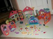 Lot Of Biggest Littlest Pet Shop Playset ✿clubhouse✿ And Accessory Lot Pets + ✿