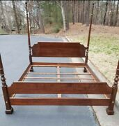Vintage Ethan Allen American Classics California King 4 Poster Bed Usa Wood