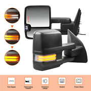 2pcs Power Heated Towing Mirrors For 03-16 Ford F-250 F-350 F-450 F-550 Truck