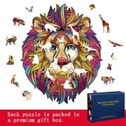 Wooden Jigsaw Puzzles 29 Unique Animals Pieces Best Gift Adults Kids Educational