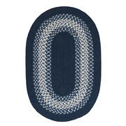 North Ridge Ng59 Navy Braided Wool Rug By Colonial Mills 4and039 X 6and039 Oval