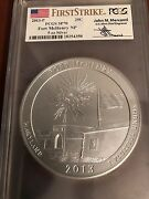 2013p Ft Mchenry Pcgs Sp70 First Strike America The Beautiful 5 Oz Mercanti Atb