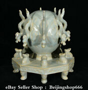 7.6 Chinese Song Dynasty Ru Kiln Porcelain Dragon Beast Seismograph Statue