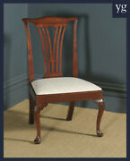 Antique Georgian Chippendale Mahogany Gentlemanandrsquos Dining Side Office Chair