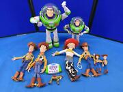 Lot Of 9 Toy Story Toys Buzzlight Year W/ Remote 5 Woody's
