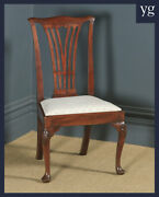 Antique Georgian Chippendale Mahogany Ladies Dining Side Office Desk Chair