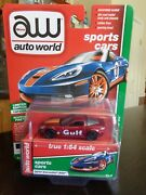 2011 Chevy Corvette Z06 Gulf Sports Cars Ultra Red Chase Auto World 1/64 Rare