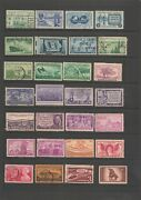 Lot Of 4198..us 3 Cent Stamps..1933-2002..off Paper..cancel ..most 1940's-50's