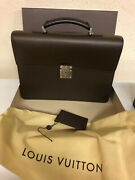 Louis Vuittons Briefcase Brown New