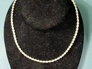 14 Kt Yellow Gold Heavy Rope Chain Necklace 25.5 Grams 28 Long 3mm Thick