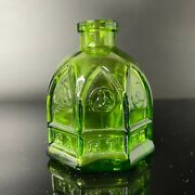Vintage Wheaton Glass Mini Glass Bottle Green Carter Cathedral Ink Well Nj