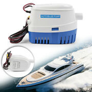 Fit 12v 1100gph Marine Boat Automatic Bilge Pump Rv Submersible Water Pump
