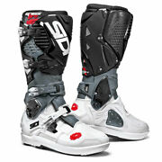 Sidi Crossfire 3 Srs Motorcycle Motorbike Off Road Boots White / Grey / Black