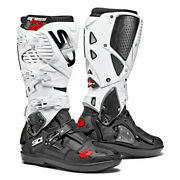 Sidi Crossfire 3 Srs Motorcycle Motorbike Off Road Boots Black / White