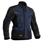 Halvarssons Mora Motorcycle Motorbike Textile Jacket Black / Blue