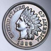 1899 A Penny For Your Thoughts Token Indian Head Cent Penny Bu Free P/h E167 Kt