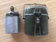 Wwii Swiss Army Mess Kit Mewa 1944 / M32 Canteen With Cup Mb 1944 11