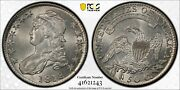 1818 Capped Bust Half Pcgs Ms 61 Crisp And Lustrous Clean All White Surfaces