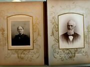 1890- 1900 Family Heirloom Photo Album With 27 Pages Of Cabinet Card Photographs