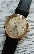 1960and039s Vintage Gruen Precision 25 Jewel Automatic Menand039s Wristwatch