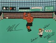 Mike Tyson And Charles Martinet Signed 16x20 Photo Punch Out Nintendo Psa Ai81193