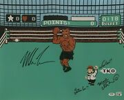 Mike Tyson And Charles Martinet Signed 16x20 Photo Punch Out Nintendo Psa Ai81190