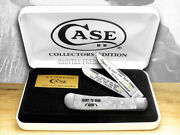 Case Xx White Pearl Corelon Right To Bear Arms 1/600 Trapper 2 Pocket Knives
