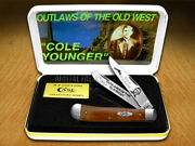 Case Xx Collectorand039s Cole Younger Chestnut Bone 1/500 Trapper 1 Pocket Knives