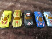 Kelloggs Promotional Toy Cars Pull Back X5 Snap Crackle Pop 1980's