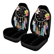 Jeocody Colorful Dream Catcher Front Seat Covers Vehicle Seat Protector Car Mat