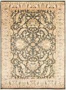 Vintage Hand-knotted Carpet 9'0 X 12'8 Traditional Oriental Wool Area Rug