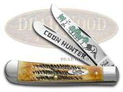 Case Xx Trapper Knife Coon Hunter 6.5 Bone Stag 1/600 Stainless Pocket Knives