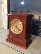 Beautiful Country Style Bulova Mantle Quartz Chime Clock Excellent Condition