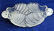 Mikasa Swan Bowl Frosted Crystal Glass Handles Serving 10 X 7 Vintage Germany