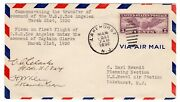 Uss Los Angeles Airship Flown Transfer Of Command Autographed Wiley Clarke 1930