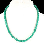 Selene Gems 16 Natural Green Onyx Rope Necklace Top Quality Facetted Beads
