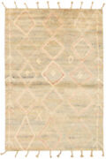 Hand-knotted Carpet 5and0394 X 7and0399 Bohemian Moroccan Tribal Wool Rug