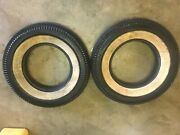 2 Vintage Hood Whitewall Tires 5.70 - 15 - 6 Ply New Tires Old Stock 2 1/4 Wall