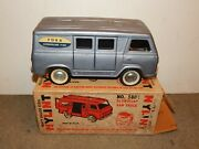 Rare Vintage 1960s Nylint Toy Ford Econoline Van Pressed Steel Toy 5800 And Box