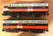 Aristocraft G Scale Art-22018 And 22068 New Haven Diesel Locomotives Powered Ob